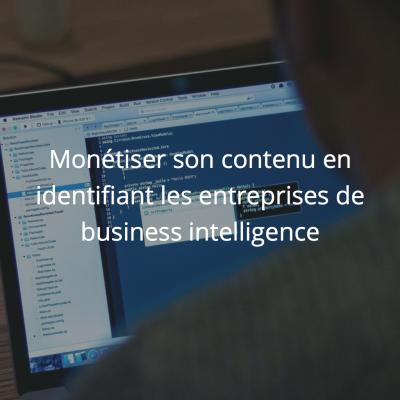 Monétiser son contenu en identifiant les entreprises de business intelligence