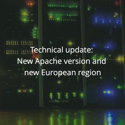 New Apache version and new datacenter