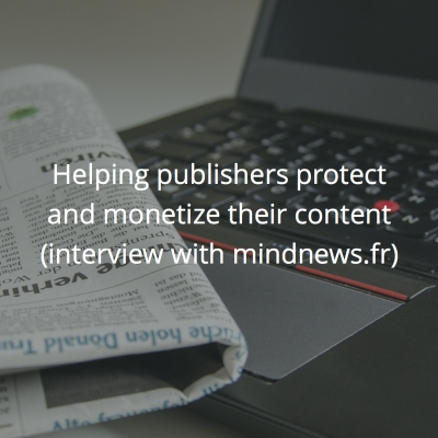 Helping French media sites protect and monetize content