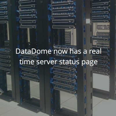 DataDome now has a real time server status page