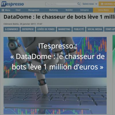 ITespresso : DataDome lève 1M euros